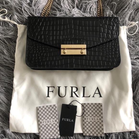 70f6b1856f Furla Handbags - Furla Small Julia Pochette in Croco - Crossbody